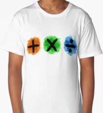 Plus Multiply Divide Album Watercolor Long T-Shirt