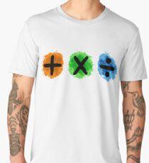 Plus Multiply Divide Album Watercolor Men's Premium T-Shirt