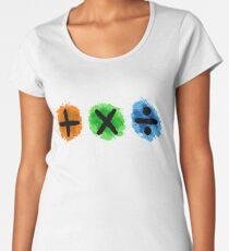 Plus Multiply Divide Album Watercolor Women's Premium T-Shirt