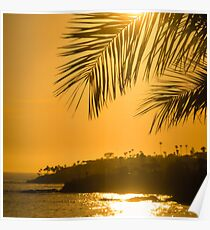 Laguna Beach California at Sunset Poster