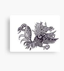 Gamecock Zen Canvas Print