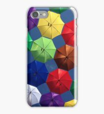 colourful umbrellas you can stand under iPhone Case/Skin