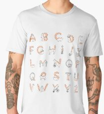 Circus cat alphabet Men's Premium T-Shirt