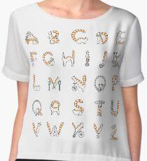 Circus cat alphabet Women's Chiffon Top