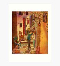 In the alleyway Art Print