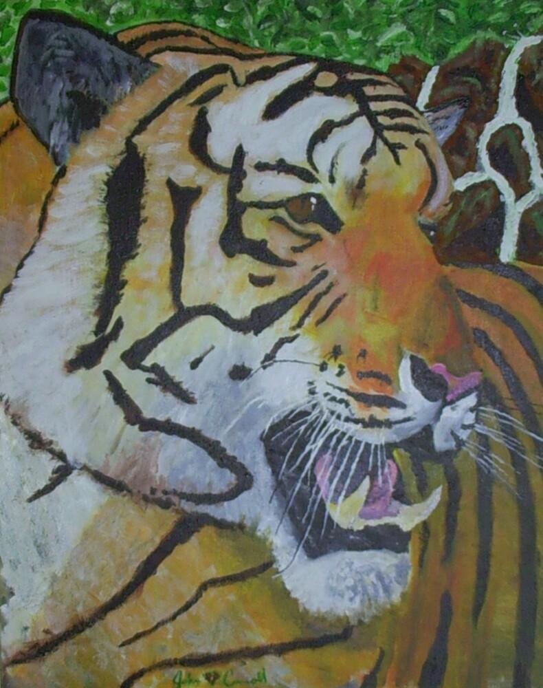 roaring tiger by johnbink