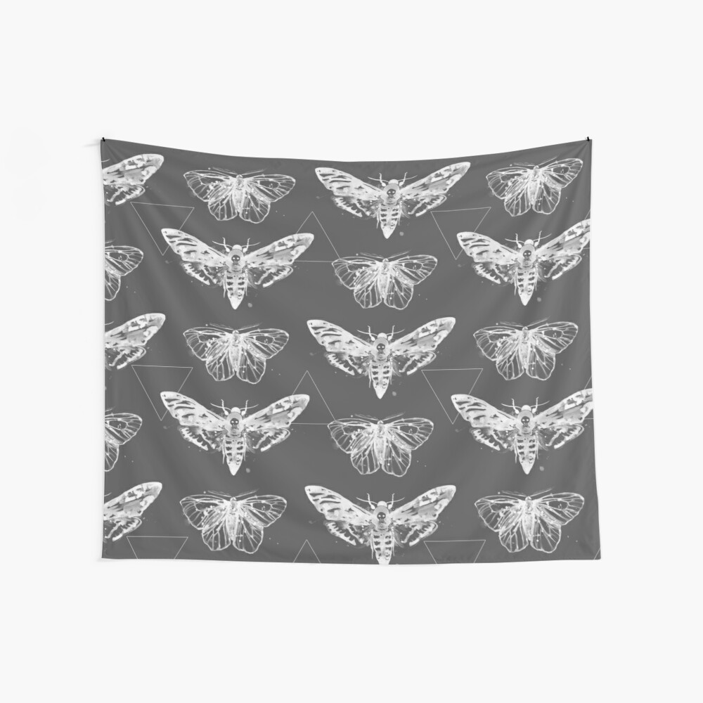 Geometric Moths - inverted Wall Tapestry