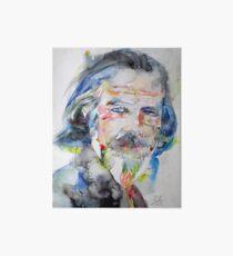 ALAN WATTS - watercolor portrait.6 Art Board