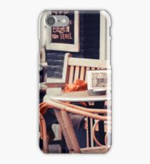 Street Cafe in Amsterdam iPhone Case/Skin