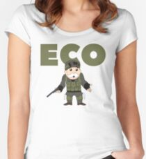 Counter-Strike Global Offensive and Monopoly Crossover - Hard Eco Women's Fitted Scoop T-Shirt