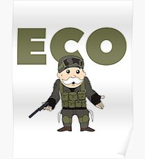 Counter-Strike Global Offensive and Monopoly Crossover - Hard Eco Poster