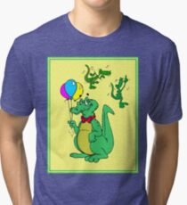 ALLIGATORS : Whimsical Abstract Party and Dancing Print Tri-blend T-Shirt