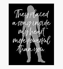 They placed a song inside my heart Photographic Print