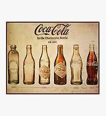 Coca-Cola Vintage Poster Photographic Print