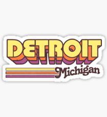 Detroit, MI | City Stripes Sticker
