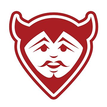 Devil Face Mascot by graphicgeoff