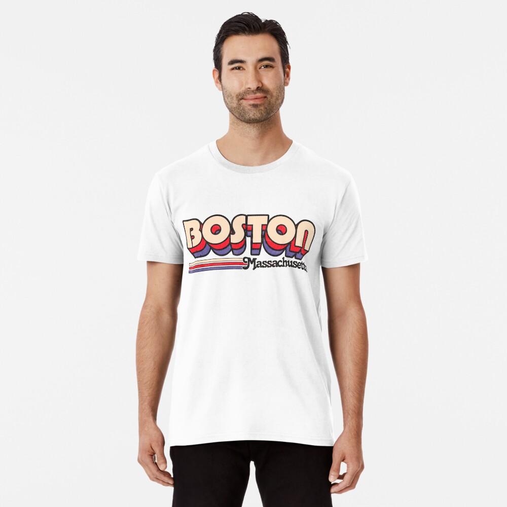 Boston, MA | Rayas de la ciudad Camiseta premium
