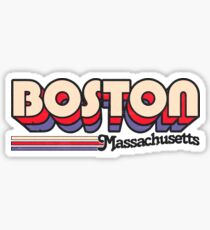 Boston, MA | City Stripes Sticker