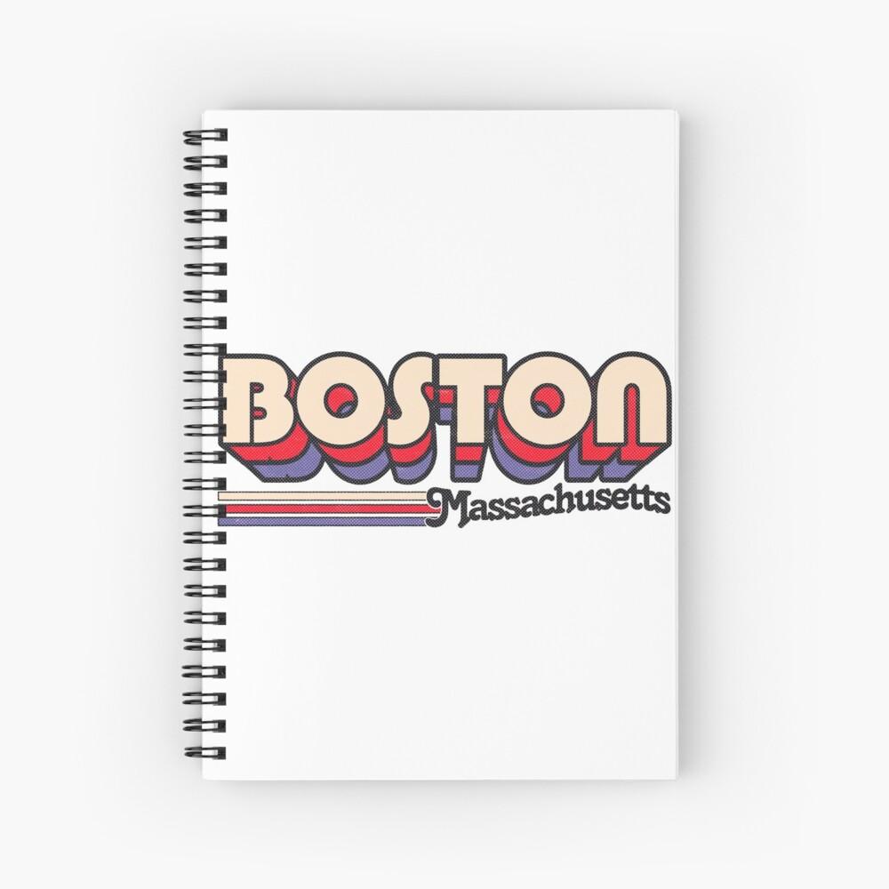 Boston, MA   Rayas de la ciudad Cuaderno de espiral
