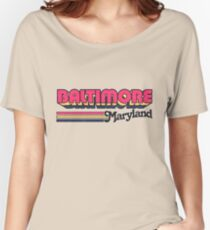 Baltimore, MD | City Stripes Women's Relaxed Fit T-Shirt
