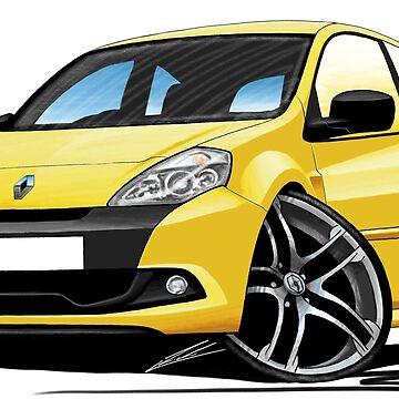 RenaultSport Clio III 200 Yellow by yeomanscarart