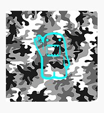 Camouflage Domo blue  Photographic Print