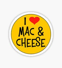 I Love Mac n Cheese Sticker Sticker