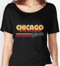 Chicago, IL | City Stripes Women's Relaxed Fit T-Shirt
