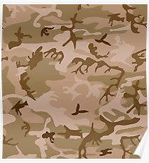 Camouflage, Desert , ARMY, War, USA, US, America, American Poster