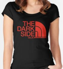 The Dark Side logo Women's Fitted Scoop T-Shirt