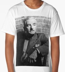 William Faulkner calmly looking at something or nothing at all Long T-Shirt