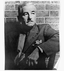 William Faulkner calmly looking at something or nothing at all Poster