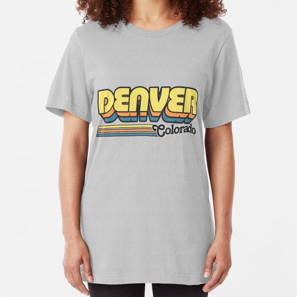 Denver, CO | City Stripes Slim Fit T-Shirt