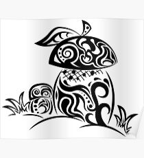 Zentangle stylized mushrooms Poster