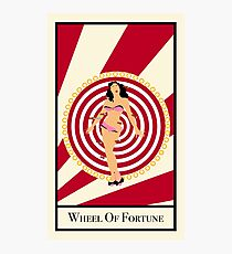 Wheel Of Fortune - Circus Tarot Card Photographic Print