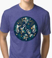 Equestrian modern circus Tri-blend T-Shirt