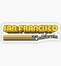 San Francisco, CA | City Stripes Sticker