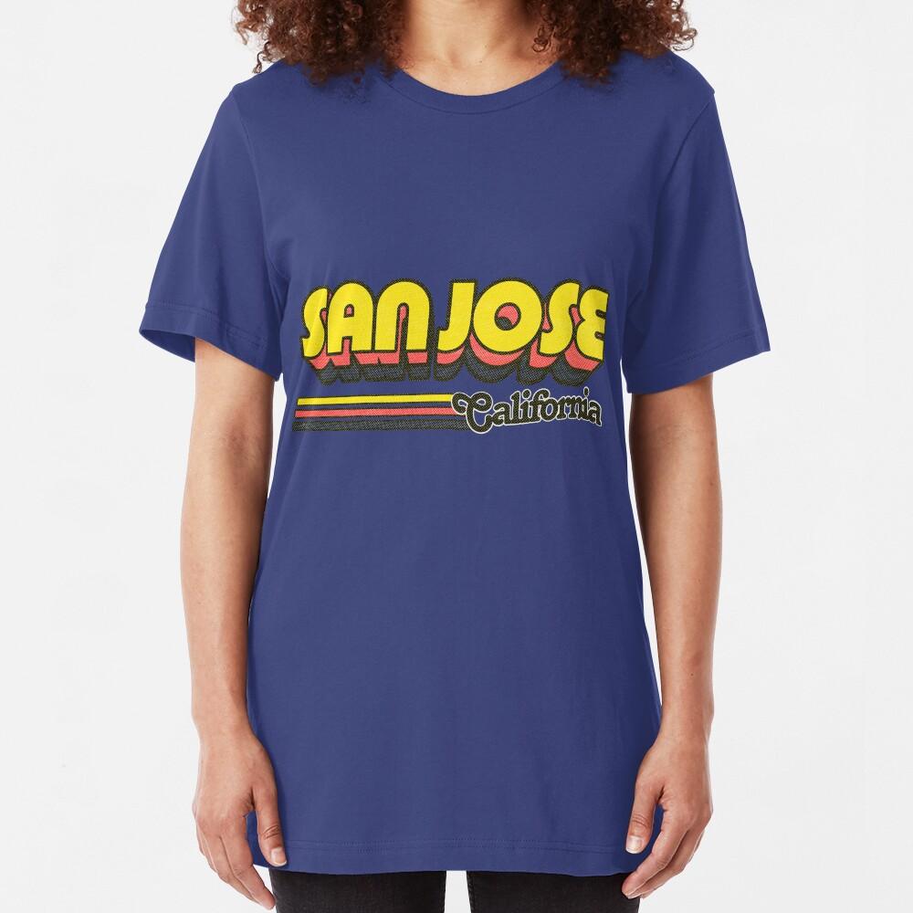 San Jose, CA | City Stripes Slim Fit T-Shirt
