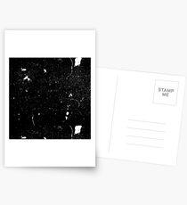 Grunge Noise Black Background Postcards
