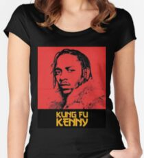 Kendrick Lamar - Kung Fu Kenny Art Women's Fitted Scoop T-Shirt