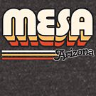 Mesa, AZ | City Stripes by retroready