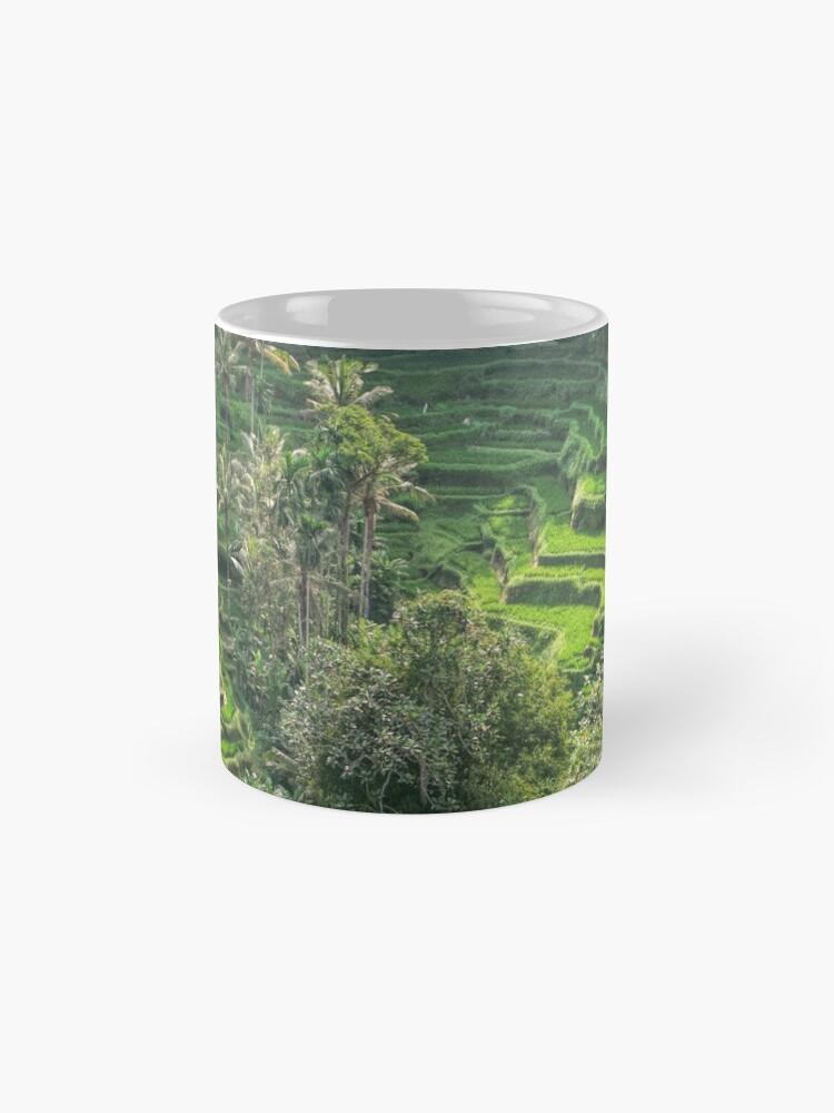 Vista alternativa de Taza Terraza de arroz de Bali