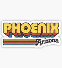 Phoenix, AZ   City Stripes Sticker