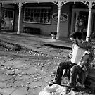 Street musician by Saulite2