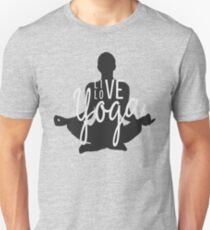 Live Love Yoga Motivational Typography Text Design T-Shirt