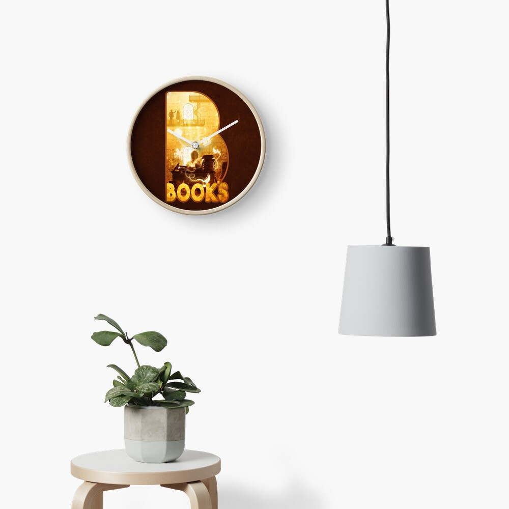 B for Books Clock