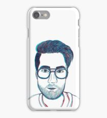 blue / red dan smith no. two iPhone Case/Skin