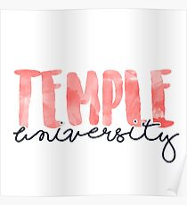 Temple University Poster