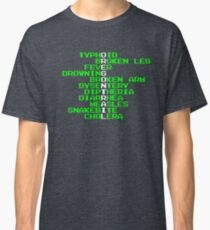 Oregon Trail - Ways to Die in the West Classic T-Shirt