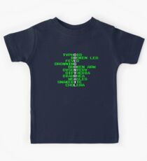 Oregon Trail - Ways to Die in the West Kids Tee